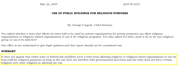 use-of-building-for-religious-purposes